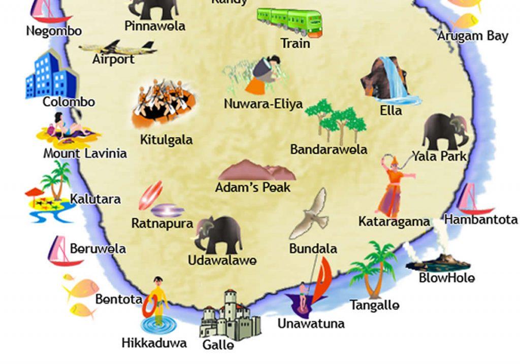 sri lanka kart Sri Lanka kart 1024x717   Berg Reiser AS